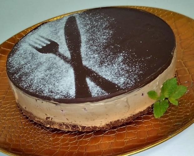 Nepečená čokoládová tortička - cheesecake - recept