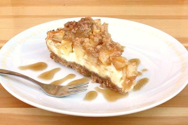 Jablkový cheesecake - recept
