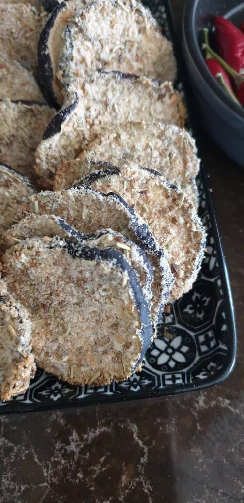 Chrumkavý baklažán so šalviou a feniklom - recept