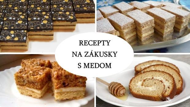Recepty na zákusky a koláče s medom