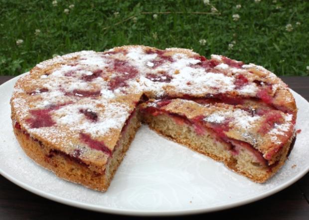 Prevrátený slivkový koláč - recept