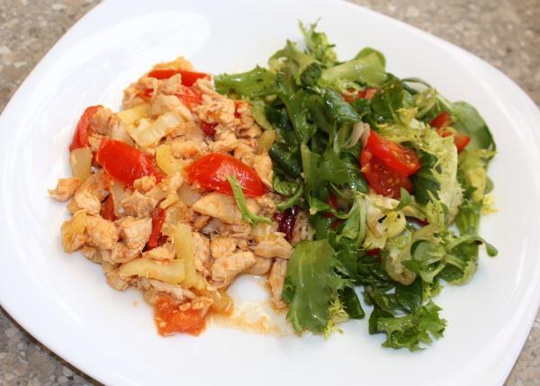 Kuracie soté s paradajkami a paprikou | Recept | Kamila