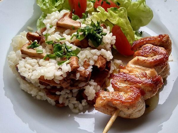 Kurací špíz s kuriatkovou ryžou - recept