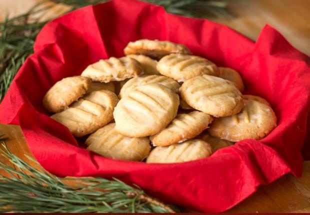 Maslové sušienky s polevou - recept