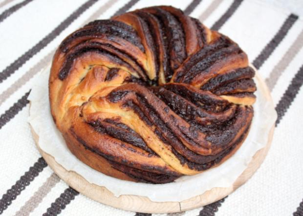 Fantastický twister čokoládový koláč - recept