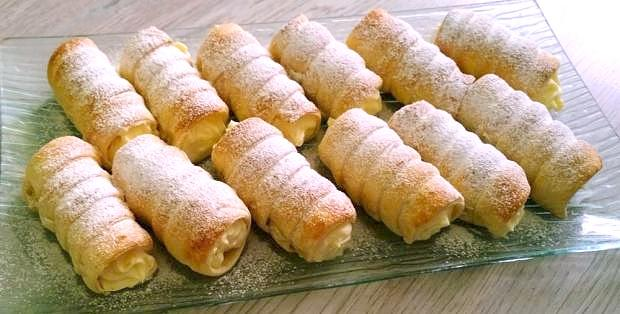 Trubičky s vanilkovým krémom ♥ - recept