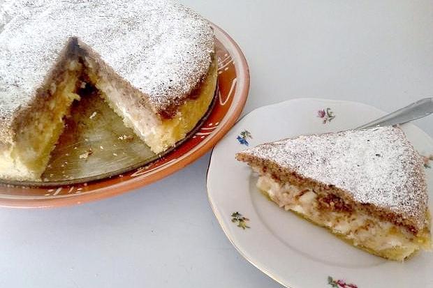 Tvarohovo jablkový koláč - recept