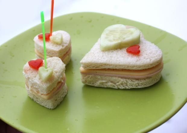 Valentínske sendviče - recept