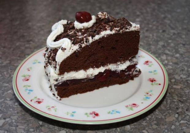 Schwarzwaldská čerešnová torta - recept