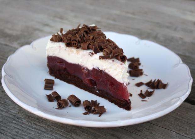 Višňovo - čokoládová torta - recept