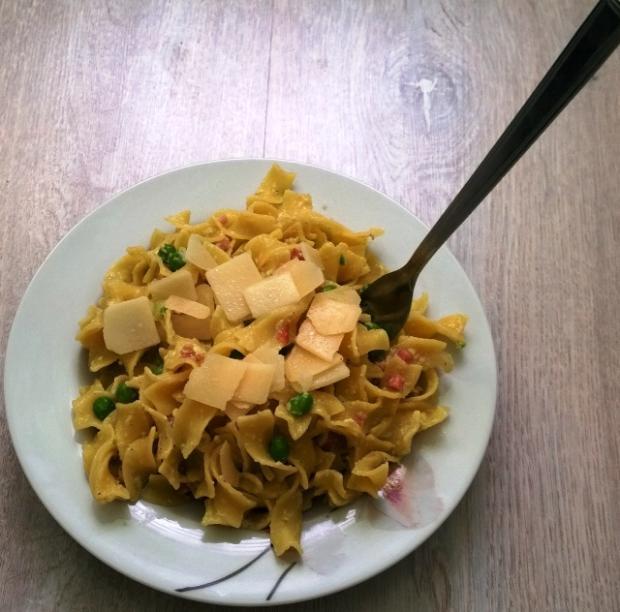 Fettuccine alla papalina :) - recept