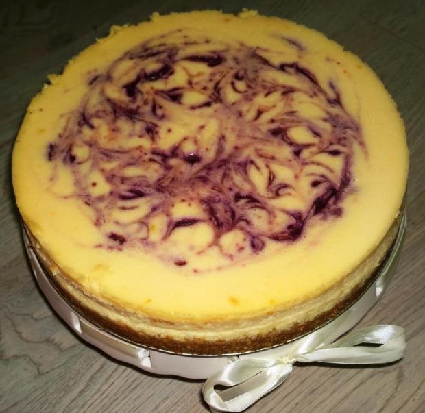 Citrónovo čučoriedkový cheesecake. - recept