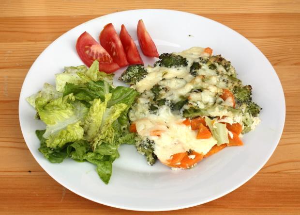 Zapečená brokolica s mrkvou