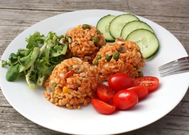 Zeleninové rizoto s celozrnou ryžou - recept